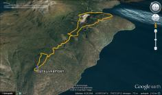 Our bike-and-hike route