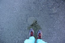 Feels weird to walk on ice and see the bottom