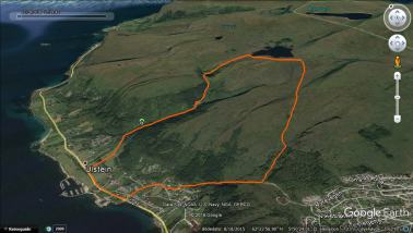 The route. Ulsteindalen is the leftmost route