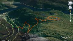 The biking route