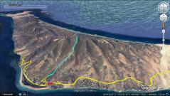 The route up and down Pico de la Zarza