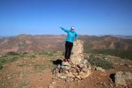 Anne on Gran Montana summit