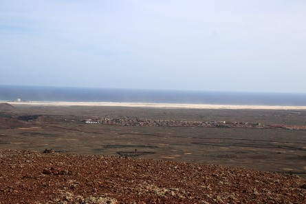 The sandy desert south of Corralejo