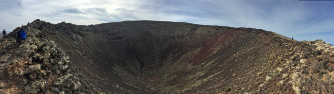 The crater, panorama view