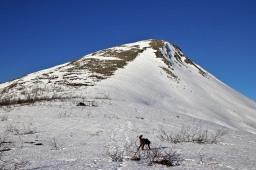 The summit ridge