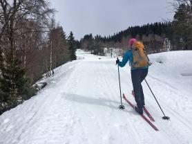 A long and steep hill to Svartavatnet