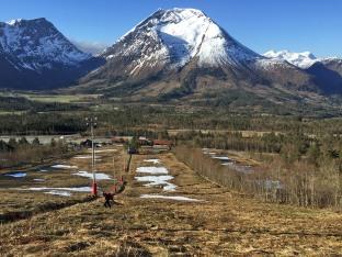 Up the slalom hill