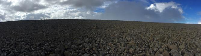 The vast summit plateau