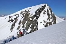 Almost up on the ridge