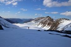 At the pass, looking towards Sandfjellstua