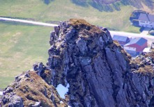 Top of Høystakken, zoomed in