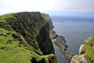 The coast below the cliffs