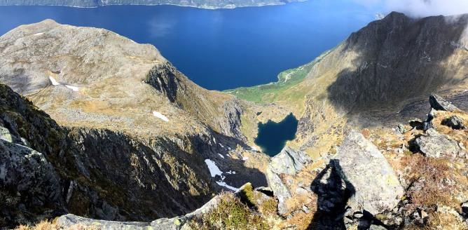 View down to Vartdalsfjorden