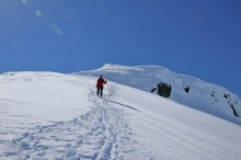 Descending from Instengfjellet