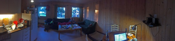 Relaxing in the cabin