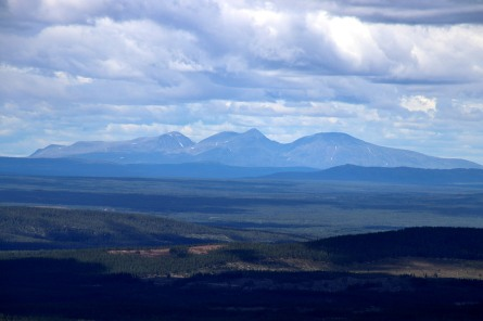 The Sølen massif - 70km away