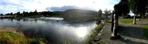 River Lågen, passing through Kongsberg