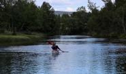 Testing the kayak