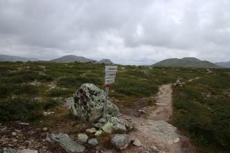 Trail junction. We went left.