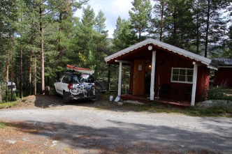 Our rented cabin