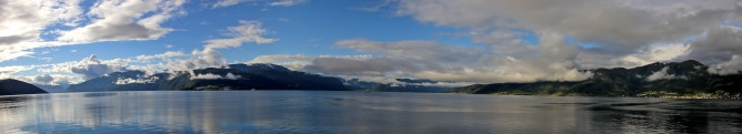 Ferry view towards Balestrand