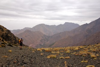 In the pass at 2930m