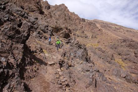 Descending into Mizane valley