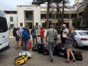 At the hotel in Essaouira