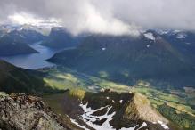 Sæbø seen from the top