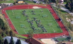 The soccer field, zoomed in