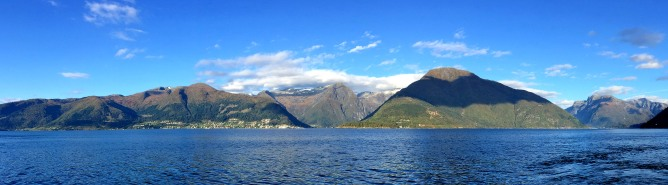 Balestrand mountains seen from Hella