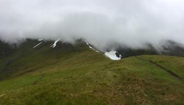 The ridge to Saudehornet