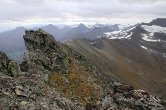 Kjetil approaching the summit