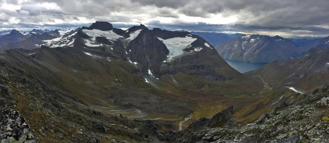 View towards the Råna massif
