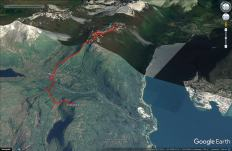 My skiing routes