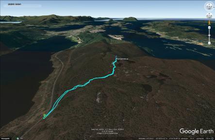 The route to Rødlandstua