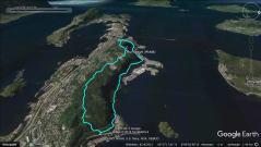 My regular running route