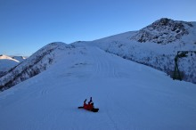 On top of the slalom hill
