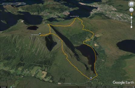 Our route across Garnestua and Hasundhornet