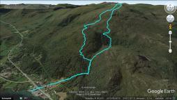 My tracks from the Rjåhornet hike