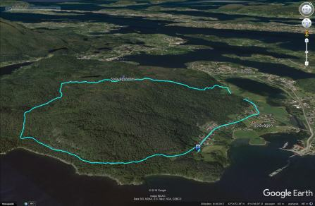 My round trip route across Solavågsfjellet