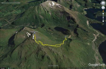 The Aldalen route to Koppefjellet