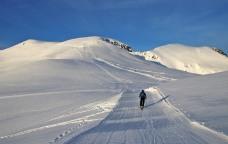 Towards the ridge