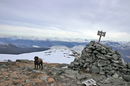 On top of Meraftafjellet