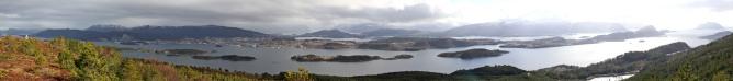 Panorama. Ålesund far right.