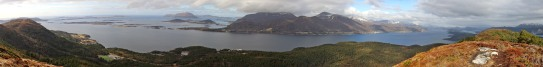 Panorama towards Haram mountains