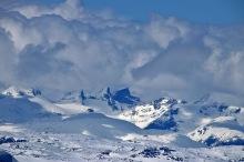 Hurrungane peaks and dramatic clouds