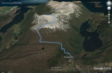 The route from Slyngstad