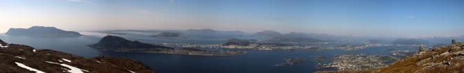 Ålesund view from Grøthornet