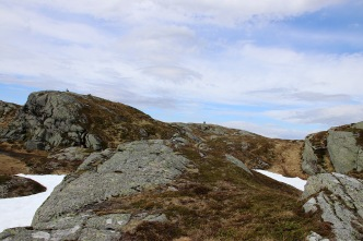 Summit cairn in view